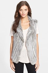 Women's Joie Genuine Rabbit Fur Vest