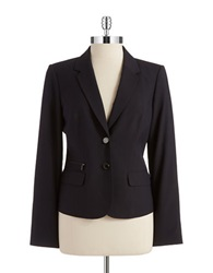 Calvin Klein Petite Pin Striped Blazer Navy