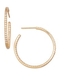 30Mm Rose Gold Diamond Hoop Earrings 0.98Ct Roberto Coin Pink