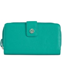 Giani Bernini Softy Leather All In One Wallet Deep Turquoise
