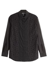 Dkny Silk Blouse With Lace Black
