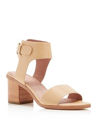 Joie Bea Ankle Strap Mid Heel Sandals Buff
