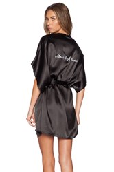For Love And Lemons Maid Of Honor Robe Black
