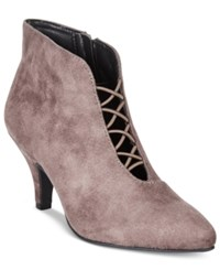Rialto Maxine Pointed Toe Booties Women's Shoes Ash