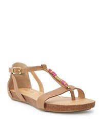 Me Too Nikki Leather Sandals Brown