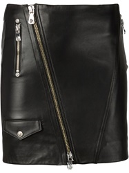 Versus Biker Style Mini Skirt Black