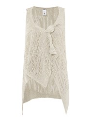 Crea Concept Knitted Gilet With Pin Detail Silver