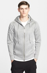 Helmut Lang Full Zip Hoodie Heather Grey
