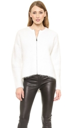 Helmut Lang Angora Cardigan Optic White