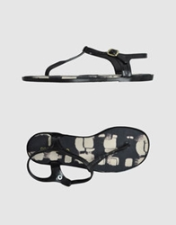 Rosamunda Thong Sandals Black