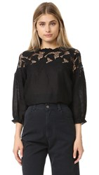 Ulla Johnson Delia Blouse Jet