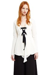 Proenza Schouler Lace Up Tunic Off White