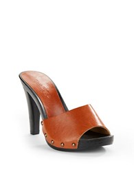 Charles By Charles David Salve Leather Sandals Cognac