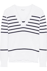 Sonia Rykiel Striped Knitted Sweater White
