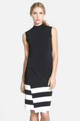 Halogen R Sleeveless Mock Turtleneck Sweater Regular And Petite Black