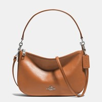 Coach Chelsea Crossbody In Smooth Calf Leather Silver Saddle