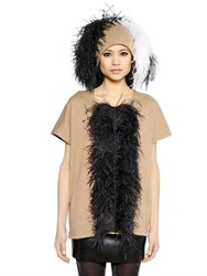 Gianluca Capannolo Feather Embellished Wool Sweater