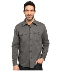 Royal Robbins Brushed Back Twill Work Shirt Obsidian Men's Long Sleeve Button Up Brown