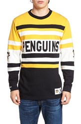 Mitchell And Ness Men's Penguins Open Net Pullover