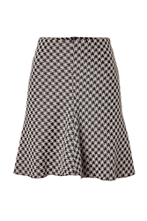 Hugo A Line Houndstooth Skirt