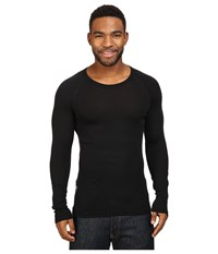 Icebreaker Everyday Long Sleeve Crewe Black Men's Clothing