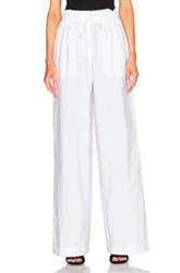 3.1 Phillip Lim Palazzo Pants In White Stripes