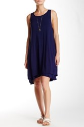 Heather By Bordeaux Back Keyhole Dress Blue