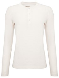 John Lewis And Co. Pique Grandad Top Winter White
