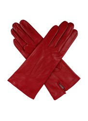 Dents Ladies Silk Lined Leather Gloves Berry