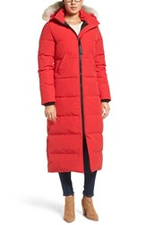 Canada Goose Women's 'Mystique' Regular Fit Down Parka With Genuine Coyote Fur Trim Red