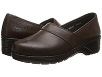 Lobo Solo Mary Dark Brown Leather Women's Slip On Shoes