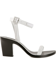Alexander Wang Chunky Heel Sandals White