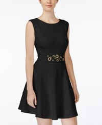 Xoxo Juniors' Grommet Detail Fit And Flare Dress Black