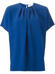 Gianluca Capannolo Gathered Neck Top Blue