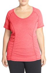 Zella Plus Size Women's 'Z 6' Tee Red Poppy