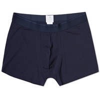 Sunspel Stretch Low Waist Trunk Navy