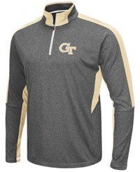Colosseum Men's Georgia Tech Yellow Jackets Atlas Quarter Zip Pullover Charcoal Gold