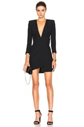Alexandre Vauthier Crepe Dress In Black