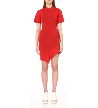 Stella Mccartney Knitted Polo Dress Chilli Red Berry