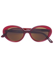 Oliver Peoples X The Row Oversized Sunglass Red