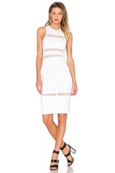 Alexander Wang Mesh Stripe Fitted Dress White