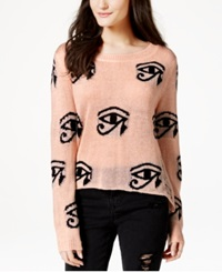 Material Girl Juniors' Graphic Sweater Only At Macy's Bellini Combo