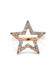 Rosa De La Cruz 18K Rose Gold And Diamond Star Ring Pink And Purple