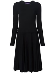 Ralph Lauren Black Label Pleated Dress Black