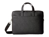 Jack Spade Barrow Leather Slim Brief Black Briefcase Bags