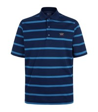 Paul And Shark Mid Stripe Polo Shirt Male Navy