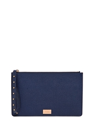 Tod's Grained Leather Pouch With Studded Strap Blue