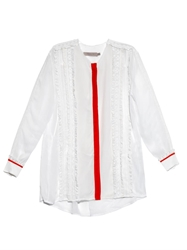 Preen Line Virginia Crepe And Lace Ruffle Blouse