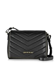 Armani Jeans Black Faux Leather Crossbody