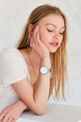Urban Outfitters Modern Mesh Watch Silver